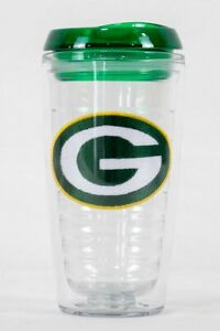 Green Bay Packers NFL Licensed 16oz Double Wall Insulated Tumbler Cup w/Lid