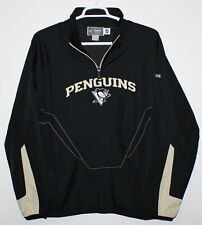 Reebok NHL Mens Pittsburgh Penguins Pullover Wind Breaker Jacket Black Size Lg