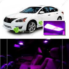 For Nissan Altima Sedan 2007-2012 Pink LED Interior Kit + Pink License Light LED