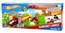 Hot Wheels ANGRY BIRDS Slingshot Launch Track Set With Red Bird Car