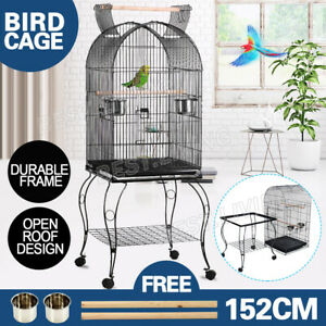 152cm Bird Cage Aviary Pet Budgie Perch Castor with Wheels Stand-alone Parrot