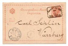 BOSNIA: Postal statinery to Germany 1892 Arr.canc.