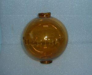 Vintage Dark Amber ELECTRA Lightning Rod Ball