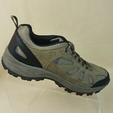 Merona Mens Hiking Shoes Size 8.5 Tan Suede Leather #A54