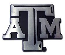"Texas A&M Aggies Chrome Metal Auto Emblem (Matte ""ATM"") NCAA Licensed"