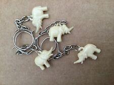 4 Vintage Elephant Charm Keyrings - Deadstock