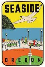 Seaside Oregon    Vintage 1950's Style  Travel Sticker Decal