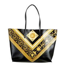 Versace Women's Barocco Saffiano Leather Tote Handbag Shoulder Bag