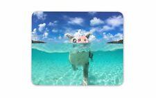 Nuoto Maiale Tappetino Mouse Pad Divertente Animale Carino Spiaggia Regalo COMPUTER PC REGALO #8098