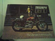 1968 Triumph motorcycle sales brochure(Reprint) All 1968 Model Triumph's $18.00