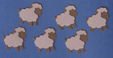 Sheep Die Cuts in Sets of 6 - Chocolate/Mocha Colored
