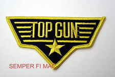 TOP GUN PATCH US NAVY FIGHTER WEAPON SCHOOL YELLOW F14 TOMCAT MAVERICK ICEMAN