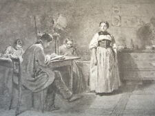 GRAVURE XIXe VOYAGE EN ITALIE  signée Karl Girardet 1840