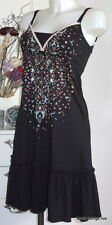 Vive Maria NEU Kleid Naima Dress L 40 black schwarz Baumwolle Tunika Modal new