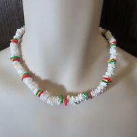 "Men's Puka Shell Necklace 18"" U-Pick Color Natural Neon BeadPuca Surfer Choker"