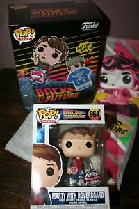 MARTY McFLY WITH HOVERBOARD - FUNKO POP & TEE BACK TO THE FUTURE #964 New !!!