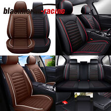 New listing Universal PU Leather 5 Seat Car Seat Covers Full Set Cushion For SUV Trucks(Fits: LaCrosse)
