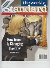 HOW DONALD TRUMP IS CHANGING GOP WEEKLY STANDARD MAGAZINE FEB 26 2018 NO LABEL