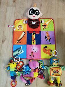 Lamaze Disney Incredibles Jack Jack Playmat and 3 Sensory Toys Robot Dragon +