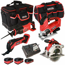 Excel EXL5175 18V 4Pcs Cordless Power Tool Kit 3 x Batteries Smart Charger & Bag