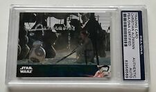Star Wars The Force Awakens Christian Alzmann BB-8 #27 Signed Auto Card PSA/DNA