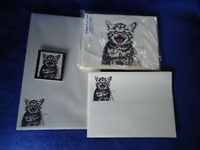 Meowing Kitten 4 Pc Set-Notepad, 6 Blank Notecards, 5 Printed Envelopes Magnet