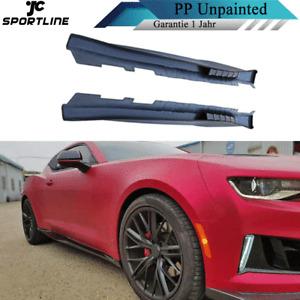 PP Unpainted Seitenschweller Side Skirts Ansätze Passt für Chevrolet Camaro 2017