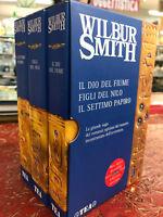 COFANETTO 3 VOLUMI - WILBUR SMITH - TEA - LA GRANDE SAGA DEI ROMANZI EGIZIANI