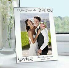 Personalised Silver 5x7 Swirl Photo Frame Wedding Anniversary Birthday Gift