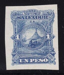 El Salvador 1891 1p Colour Trial Plate Proof in Blue. Scott 56 var