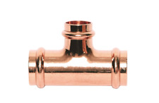 """Pack of 5 Streamline Copper Press Fitting Reducing Tee 1"""" x 1"""" x 1/2"""" PF 04051"""
