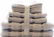 LUXURY 8 PC THICK SOFT PURE COTTON TOWELS BATHROOM GIFT SET JUMBO SHEET BALE SET