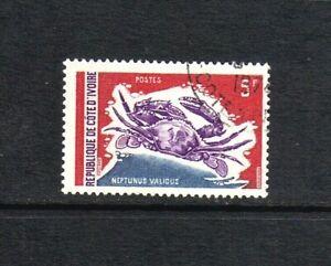 Ivory Coast 1971 Senegalese Smooth Swimcrab single value (SG 354) used