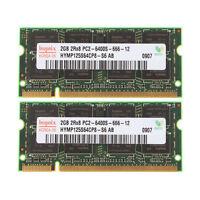 RAM For Hynix 4GB 2X 2GB DDR2 PC2-6400S 800MHz 200Pin 2RX8 SODIMM Laptop Memory