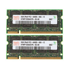 #065 Chips 4GB 2X 2GB DDR2 PC2-6400S 800MHz 200Pin 2RX8 SODIMM RAM Laptop Memory