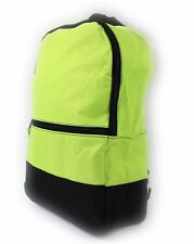 CLASSIC UNIVERSAL BACKPACK RUCKSACK TRAVEL SCHOOL BAG GYM SPORT LIME GREEN NEW