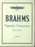 Brahms - Paganini - Variationen Op. 35 Heft 1 ( Emil Sauer )