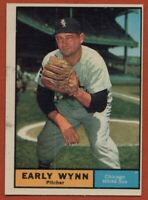1961 Topps #455 Early Wynn EX-EXMINT Marked Chicago White Sox FREE SHIPPING