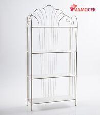 ETAGERE LIBRERIA SCAFFALE ferro bianco 4 mensole piani cm.81x30 h172 Shabby chic