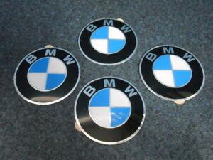 4 x BMW Emblem 64,5 mm für Nabendeckel NEU E36 E34 E39 E46 E60 E81 E90 3er 5er