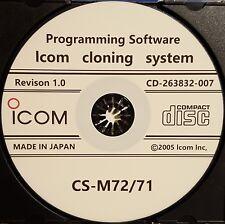 Icom CS-M72/71 Software for IC-M71 and IC-M72 Radios Revsion 1.0