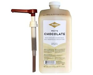 Fontana for Starbucks White Chocolate Mocha Sauce W/Pump 63oz BEST BY 12/11/2021