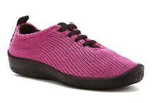 Arcopedico Comfort Lace Ups, Fuchsia Pink Knit, Arch Support, Vegan, Br New, 37