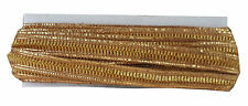 9 mtr lace border saree thin trim ribbon, gold gota edge n glitter ridge craft