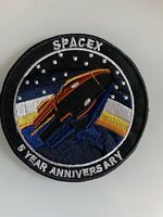 "SpaceX Dragon 5 Year Anniversary Commemorative Space Flight Patch 3.5"" Iron Sew"