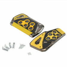 Yellow Universal Automatic Car Foot Pedal Pad Accelerator & Brake Non-slip Cover
