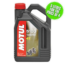 Motul 10W40 5100 4T Semi Synthetic 4 Stroke Motorcycle|Motorbike Engine Oil