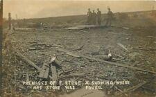 c1910 Tornado Disaster Damage Mrs F. Stone Body Location RPPC Real Photo