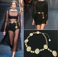 Waistband Vintage Hot Chains Waist Vogue Metal Belt Wide Gold Tassel Band Ladies