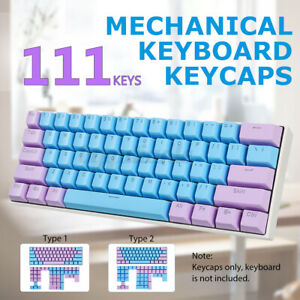 Feker Key-Caps 111keys Two-Color Injection OEM Height Keycaps Set For keyboard